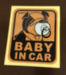BMW, MINI, GOODS, ミニクーパー, BAG, グッズ, ステッカー, BABY IN CAR, 赤ちゃん, BABY, IN, CAR,