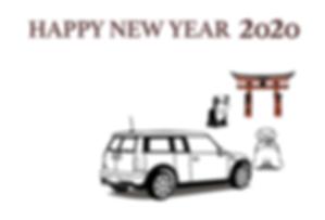 MINI, ミニクーパー, BMW, ポストカード, グッズ, 年賀状, 32, ミニ, 2020, 2020年,