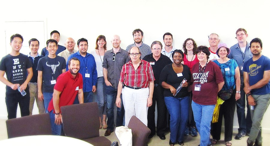 At the Golden Gavel meeting, members of Central Austin Toastmasters gathered for the annual group photo.