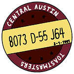 Central Austin Toastmasters is proud to bear club number 8073 and be a part of District 55!