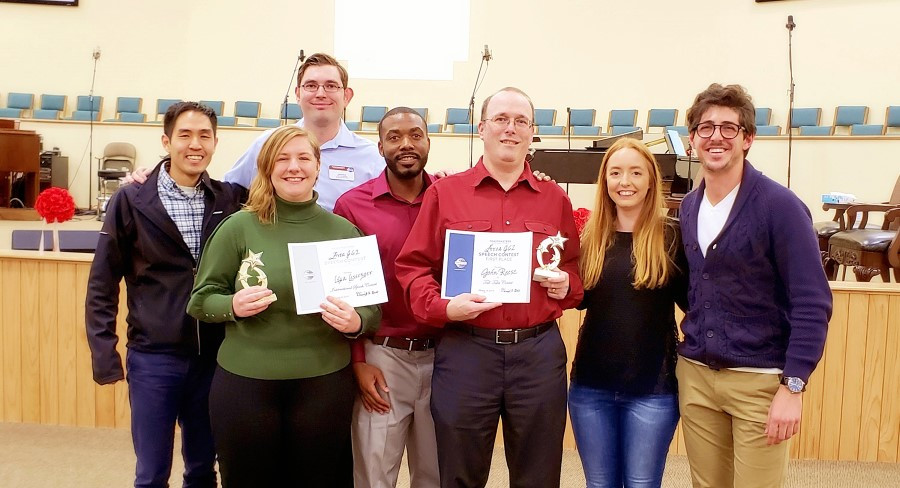 At the Area J62 contest, John won 1st place in Tall Tales contest and Lisa won 2nd place in International contest!