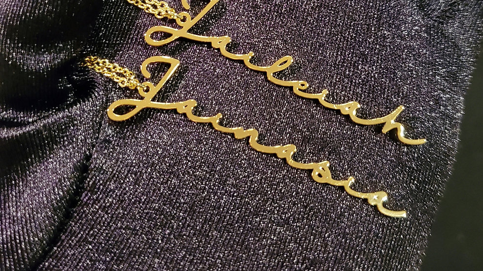 Signature Vertical Name Necklace