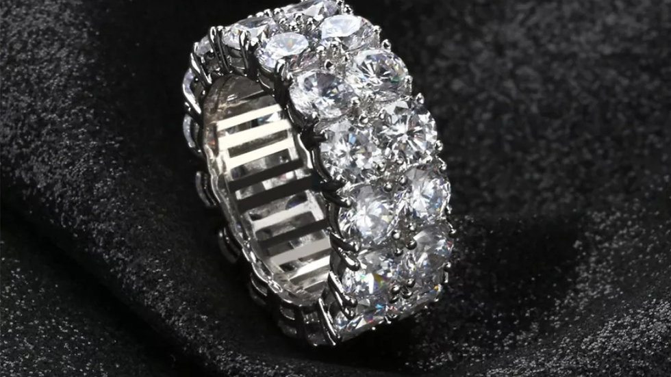 Iced Infinity Ring