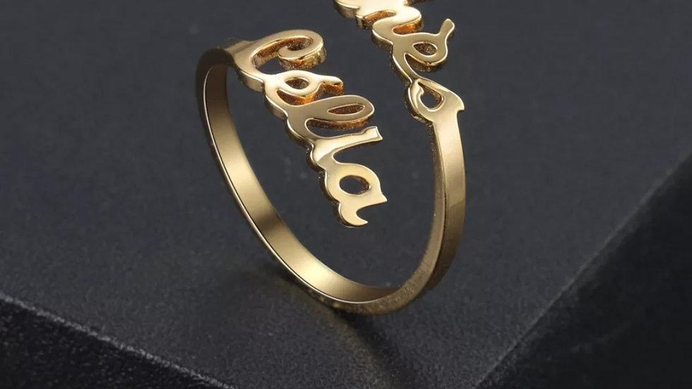 Custom Double Name Ring