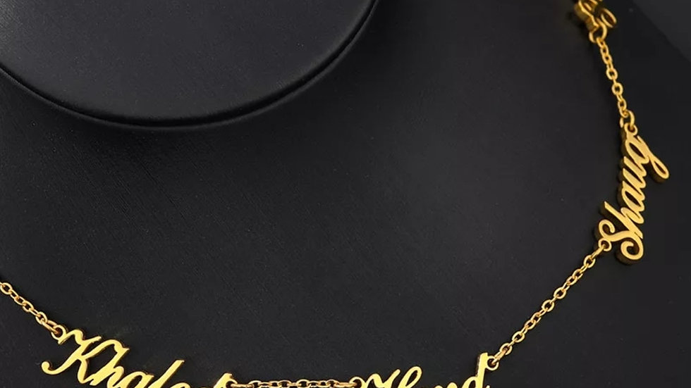 Multiple Nameplate Necklace