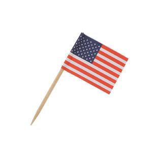 American Flag Food Pick - 100/Pack