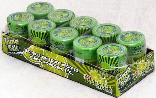 Twang Twangerz Flavored Salt Snack Topping - Lime, (10 pack)