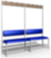 скамейка-вешалка для раздевалок