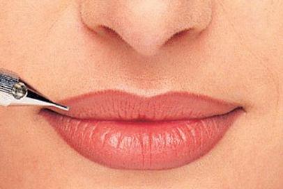 lippen met permanente make-up