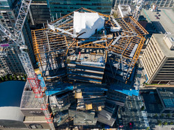 Topping-Off Beam Overhead View