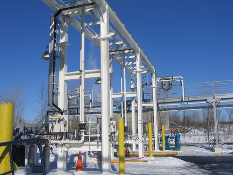 CO2 loading area - Praxair