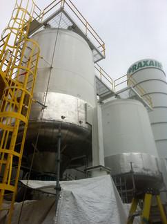 Assemblage complet du nouveau réacteur - Praxair