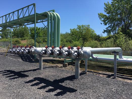Installation de mousse anti-incendie - Pipeline de Montréal