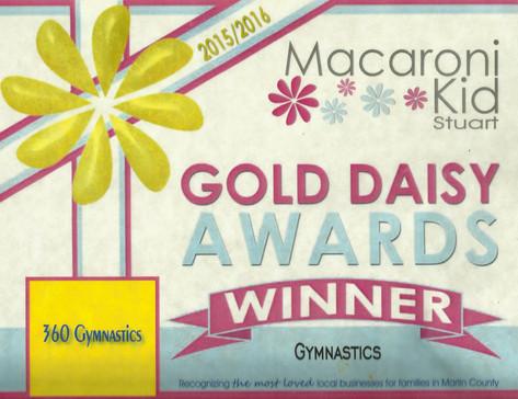 2015-16 Macaroni Kids Gold Daisy Award