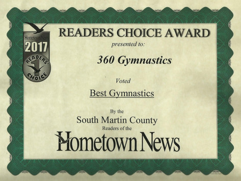 2017 Hometown News Best Gymnastics - South Martin County