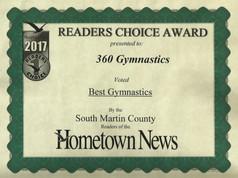 2017 Hometown News Best Gymnastics - South Martin County