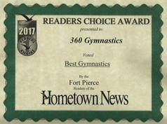 2017 Hometown News Best Gymnastics - Fort Pierce