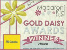 2014 Macaroni Kids Gold Daisy Award