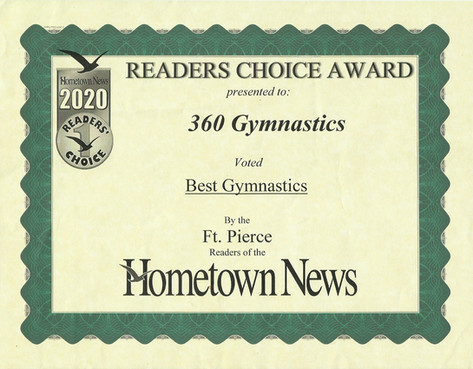2020 Hometown News Best Gymnastics - For