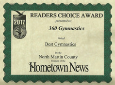 2017 Hometown News Best Gymnastics - North Martin County