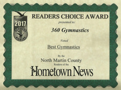 2017 Hometown News Best Gymnastics - North Martin County