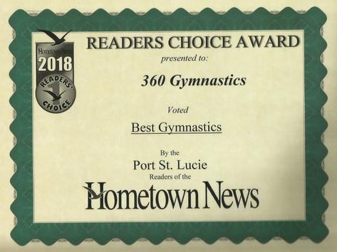 2018 Hometown News Best Gymnastics - Port St. Lucie