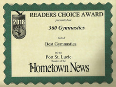 2018 Hometown News Best Gymnastics - Port St. Lucie