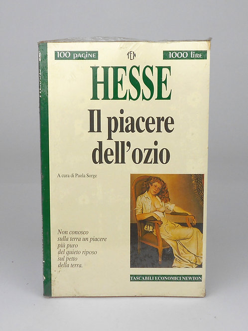 """BOOKS Tascabili Newton n°225 """"HESSE - Il piacere dell'ozio"""""""