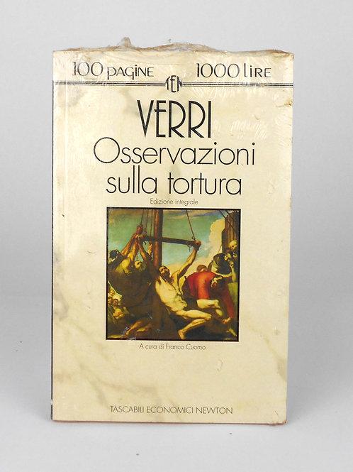 """BOOKS Tascabili Newton N°163 """"VERRI - Osservazioni sulla tortura"""""""