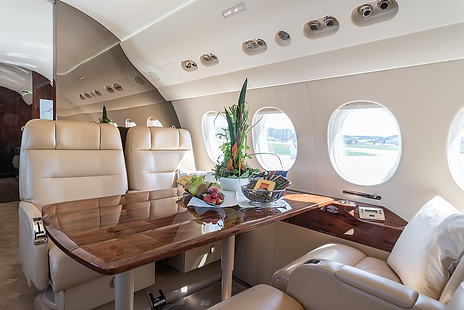 Cat Aviation Falcon 2000LX Cabin Interior
