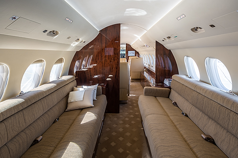 Cat Aviation Falcon 7X JSS Cabin