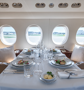 Cat Aviation VIP flights fine dining