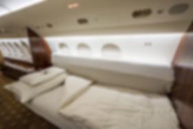 Cat Aviation Falcon 7X JST sleeping facility