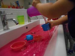 Wasserspass.Kinderkrippe
