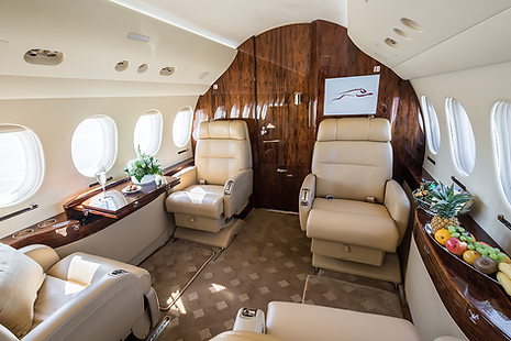 Cat Aviation Falcon 7X JST Cabin