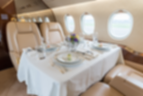 Cat Aviation Falcon 2000EX fine dining