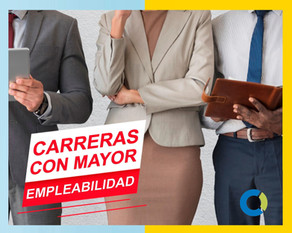¿Qué carreras tienen mayor empleabilidad?🎓