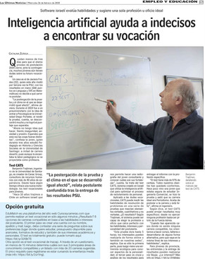 INTELIGENCIA ARTIFICIAL AYUDA A INDECISOS A ENCONTRAR SU VOCACIÓN