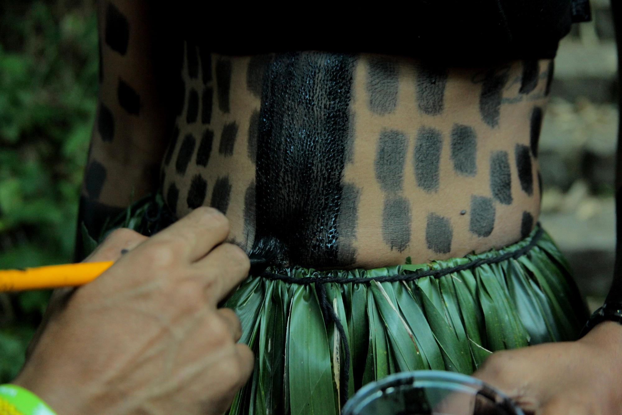 pintura corporal fulniô