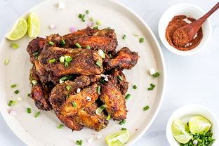 Spicy Jamaican Jerk Chicken Wings with L