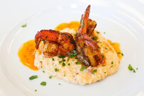 Trio of Cajun Rubbed Shrimp on Cheese Gr