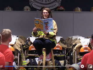 2019 Book Madness Winner: Chief Chilton with the Lexington Fire Department!
