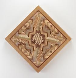 """Kaleidoscope Quilt #2 - 17"""" H x 17"""" W x 1.5"""" D"""