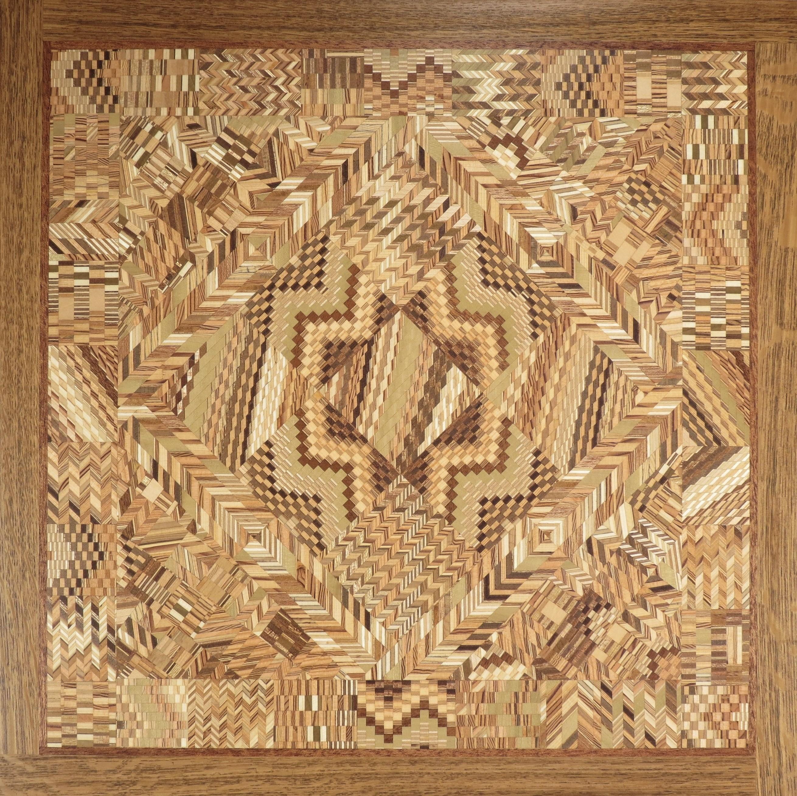 """Kaleidoscope Quilt #1 - 19"""" H x 19"""" W x 1"""" D"""
