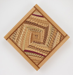 """Small Spaces Quilt # 7 - 12.25"""" H & W x 1"""" D"""