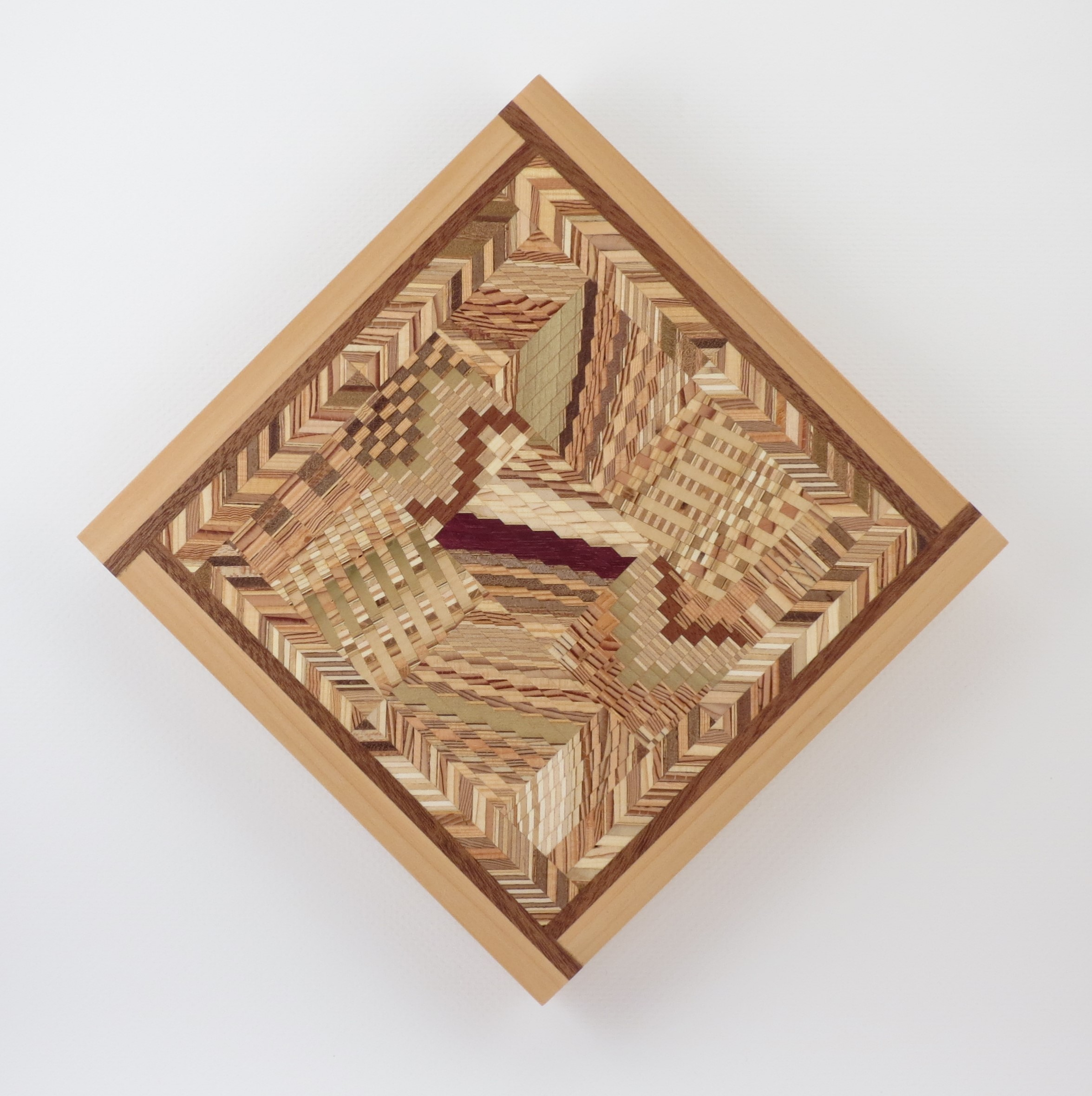 """Small Spaces Quilt #2 - 11.5"""" H x 11.5"""" W x 1"""" D"""