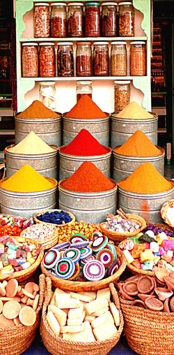 Spice stall in Marrakesh