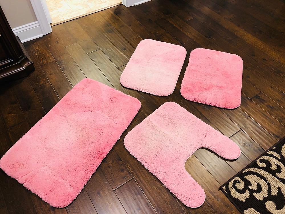 pink bath mats