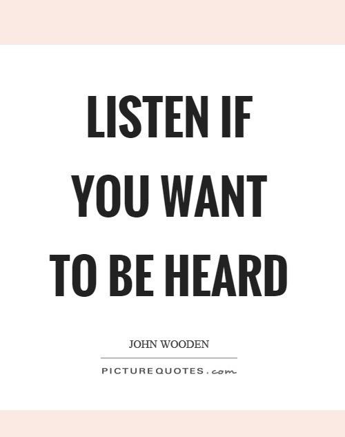 Listen First
