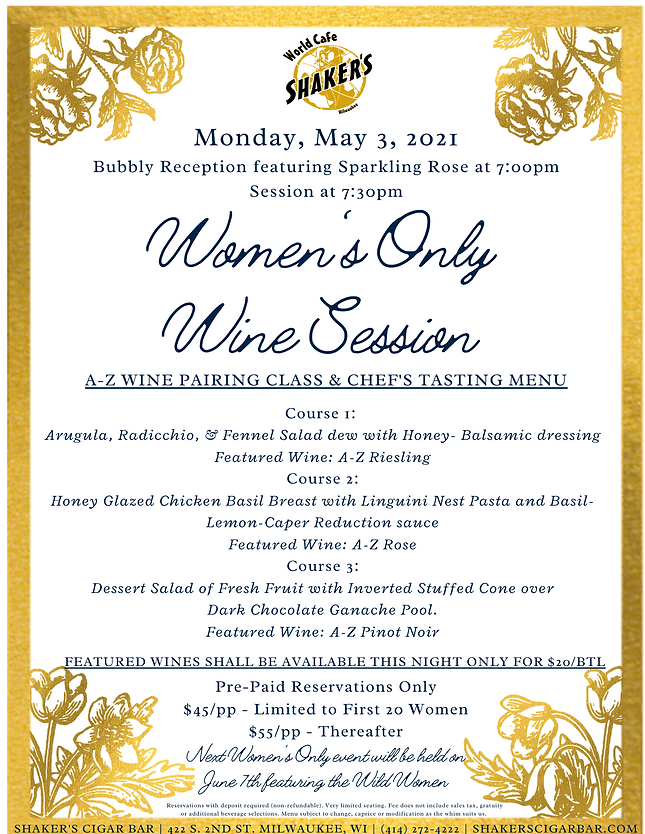 Women's Only Wine Session